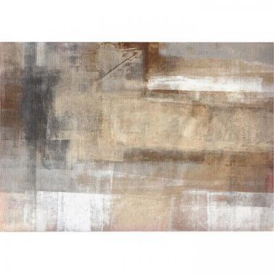 Szőnyeg 180x270 cm, absztrakt, barna - TAIGA